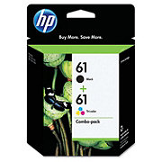 HP Black 61 Tri-Color 61 Combo Pack Ink Cartridges