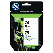 HP Black 74 Tri-color 75 Combo-Pack Ink Cartridges