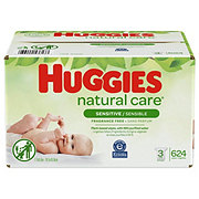 Huggies Baby Wipes Natural Care 3X Refill Case