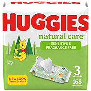 Huggies Natural Care Fragrance Free Wipes 3pk