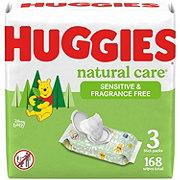 Huggies Natural Care Fragrance Free Wipes 3pk