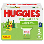 Huggies Natural Care Wipes Fragrance Free Case