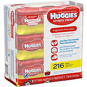 Huggies Simply Clean Fragrance Free Wipes 3 pk