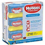 Huggies Simply Clean Wipes 3 Pack Bundle Fresh Scent Refill