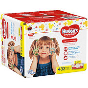 Huggies Simply Clean Wipes Fragrance Free Rigid Fit Top