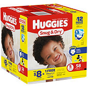 Huggies Snug & Dry Diapers 58 ct