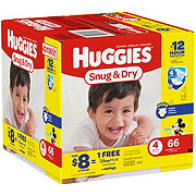 Huggies Snug & Dry Diapers 66 ct
