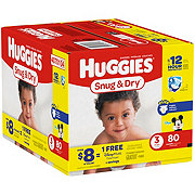 Huggies Snug & Dry Diapers 80 ct