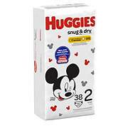 Huggies Snug & Dry Jumbo Diapers 38 ct