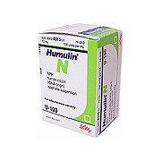 Humulin N U-100 Insulin Vial