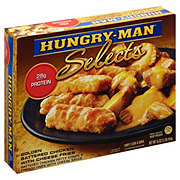 Hungry Man Selects Battered Chicken with Cheese Fries