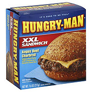 Hungry Man XXL Sandwich Angus Beef Charbroil with Cheese