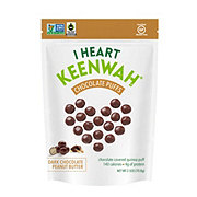 I Heart Keenwah Dark Chocolate Puffs Peanut Butter