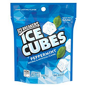 Ice Breakers Ice Cubes Peppermint Sugar Free Gum, Pouch