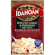 Idahoan Roasted Garlic and Parmesan Baby Reds Flavored Mashed Potatoes