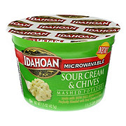 Idahoan Sour Cream And Chives Mashed Potatoes Cup