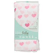 Ideal Baby Hearts Muslin Swaddle