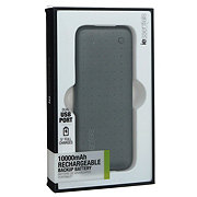 iEssentials 10000mah Graphite Rechargable Backup Battery