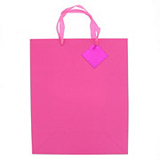 IG Design Group Large Pink Quilted Gift Bag