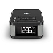 Ilive Platinum Clock Radio With Wireless Charger
