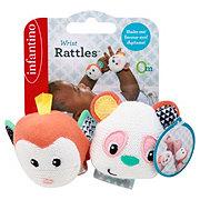 Infantino Wrist Rattles Panda & Monkey