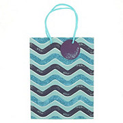 International Greetings Medium Gift Bag Blue Waves