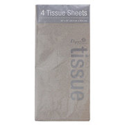 International Greetings Tissue solid Metallic Silver