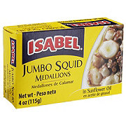 Isabel Jumbo Squid Medallions In Sunflower Oil