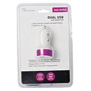 itek Dual USB Car Charger, Purple