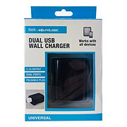 itek Dual USB Wall Adapter, Black