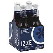 Izze Sparkling Blueberry Juice Beverage 12 oz Bottles
