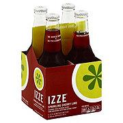 Izze Sparkling Cherry Lime Flavored Juice Beverage 12 oz Bottles