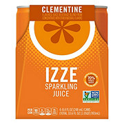 Izze Sparkling Clementine Juice Beverage 8.4 oz Cans