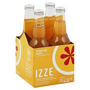 Izze Sparkling Peach Juice Beverage 12 oz Bottles