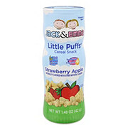 Jack & Emma Little Puffs Cereal Snack Strawberry Apple