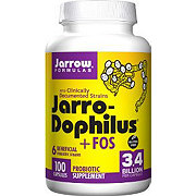 Jarrow Formulas Jarro-Dophilus Supplement +FOS 3.4 Billion Probiotic Capsules