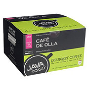 Java To Go Cafe De Olla Medium Roast Single Serve Coffee Cups