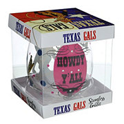 Jay Imports Texas Gals Howdy Y'all Stemless Wine Goblet