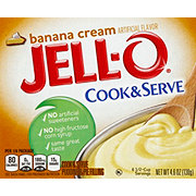 Jell-O Cook & Serve Banana Cream Pudding Mix