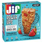 Jif Power Ups Strawberry With Peanut Butter Chew Granola Bars