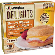 Jimmy Dean Canadian Bacon, Egg White and Cheese English Muffin Sandwiches