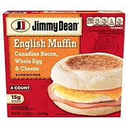Jimmy Dean Canadian Bacon Whole Egg & Cheese English Muffin