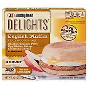 Jimmy Dean Chicken Sausage Patty, Egg White & Cheese English Muffins