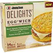 Jimmy Dean Delights Bacon Spinach Onion Frittata Egg'wich