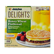 Jimmy Dean Delights Honey Wheat Flatbread Turkey Sausage, Egg, and Cheese