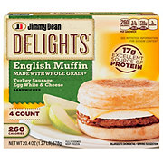 Jimmy Dean Delights Turkey Sausage, Egg White and Cheese English Muffin Sandwiches