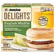 Jimmy Dean Delights Turkey Sausage Egg Whites and Cheese English Muffins