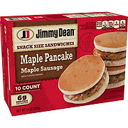 Jimmy Dean Maple Pancake with Maple Sausage Snack Size Sandwiches