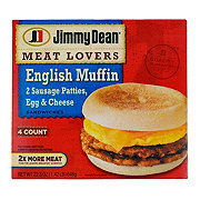 Jimmy Dean Meat Lovers Sausage Patties Egg & Cheese English Muffin Sandwiches