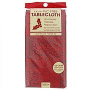 John Ritzenthaler Christmas Red Patchwork Round Tablecloth